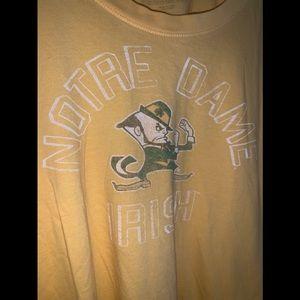 EUC Forty Seven Brand Norte Dame Stripe Tee